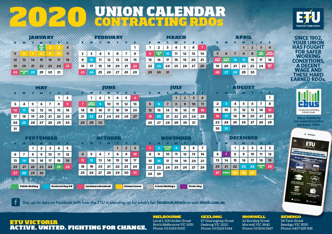 Contracting Rdo Calendar